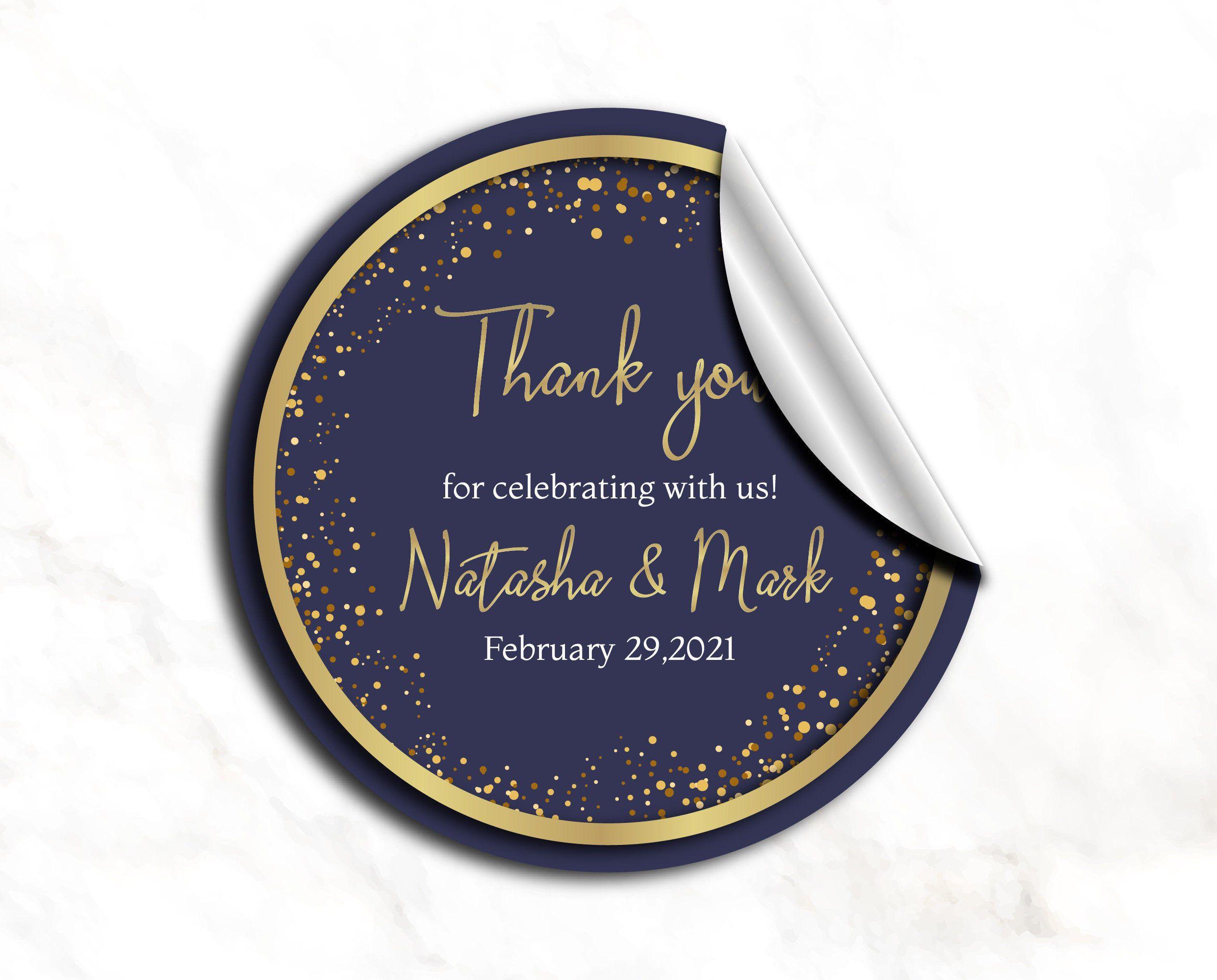 Gold Wedding Stickers Labels Wedding Stickers For Favors Etsy In 2020 Wedding Stickers Labels Wedding Stickers Personalized Wedding Labels