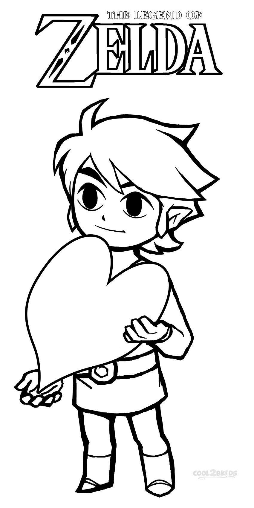 Printable Zelda Coloring Pages For Kids | Cool2bKids | Line art ...