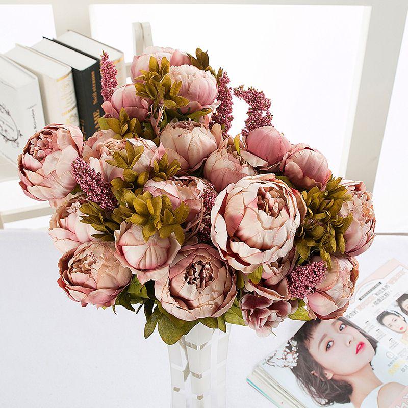 click to buy u003c u003c artificial peony flower wedding decoration european rh pinterest es