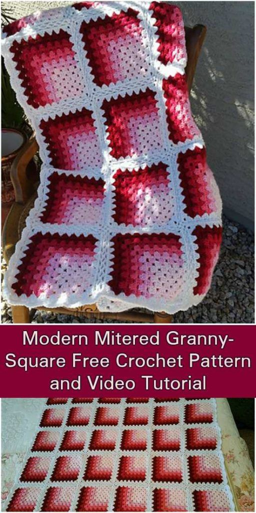 Modern Mitered Granny Square - Free Pattern and Video Tutorial ...