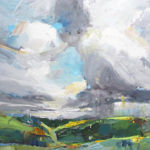 """New painting... """"Passing Rain, Moorabool Valley"""", 85X85cm, oil on linen"". #modernart #artcollector #paintings"
