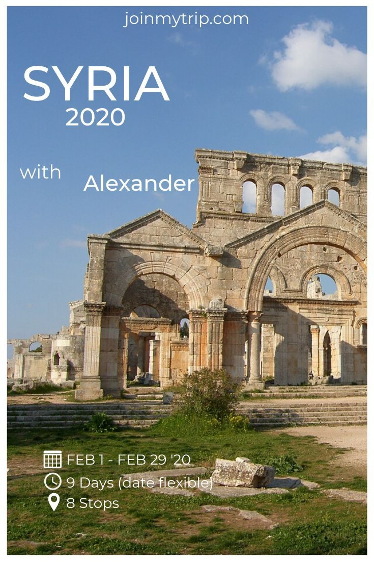 Alexander has an unique trip to Syria in 2020 😀 Syria - does this country sound interesting for you? 😎 Tap on the link of JoinMyTrip.com and reserve a place for you!    #travel #adventure #wanderlust #vacation #travelgram #explore #holiday #travels #traveler #traveller #traveling #travelling #travelphotography #travelingram #travelblog #travelblogger #traveladdict #exploretocreate #passionpassport #tourism #mytravelgram #instapassport #tourist #traveltheworld #freeyork #inspi