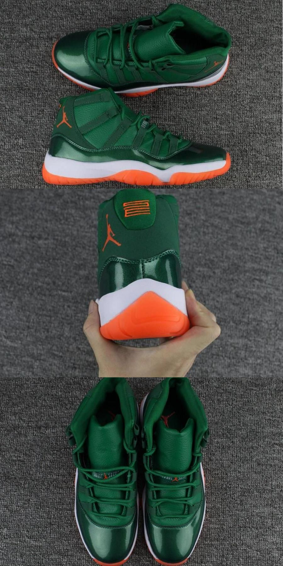 "Air Jordan 11 Gs ""miami Hurricane"" Pe For in 2020"