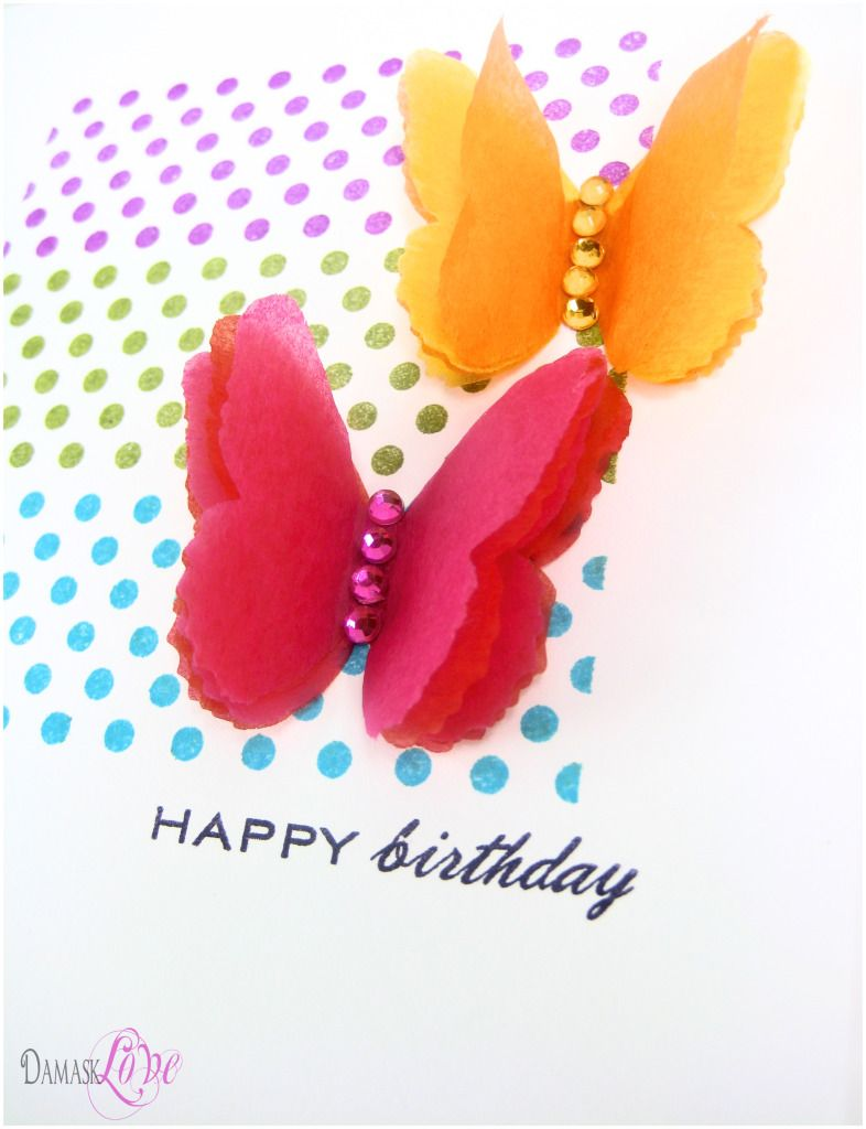 Diy Tissue Paper Flower You Could Put It On Birthday Cards With