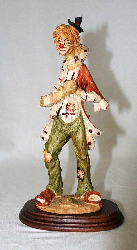 4e4d8bda62 Vintage Davar Figurine of a Clown Playing an Accordion | Timeless ...