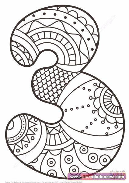Mandala Sayi Boyamalari Detay Boyama Once Okul Oncesi Ekibi Forum Sitesi Biz Bu Isi Biliyoruz Okul Etkinlik Orn Mandala Anaokulu Matematigi Ve Mate