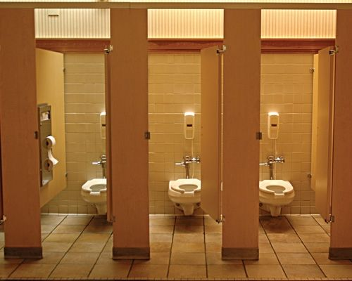 I Like How The Camera Is Able To Show Multiple Stalls At Once Lighting Is Interesting But Colors A Bathroom Stall Commercial Bathroom Designs Bathroom Rules