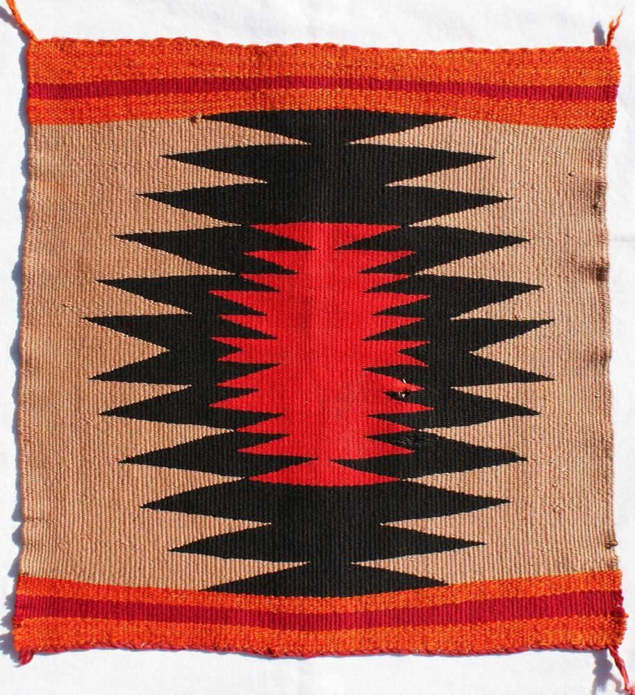 Early 20th Century Navajo Germantown Handwoven Square