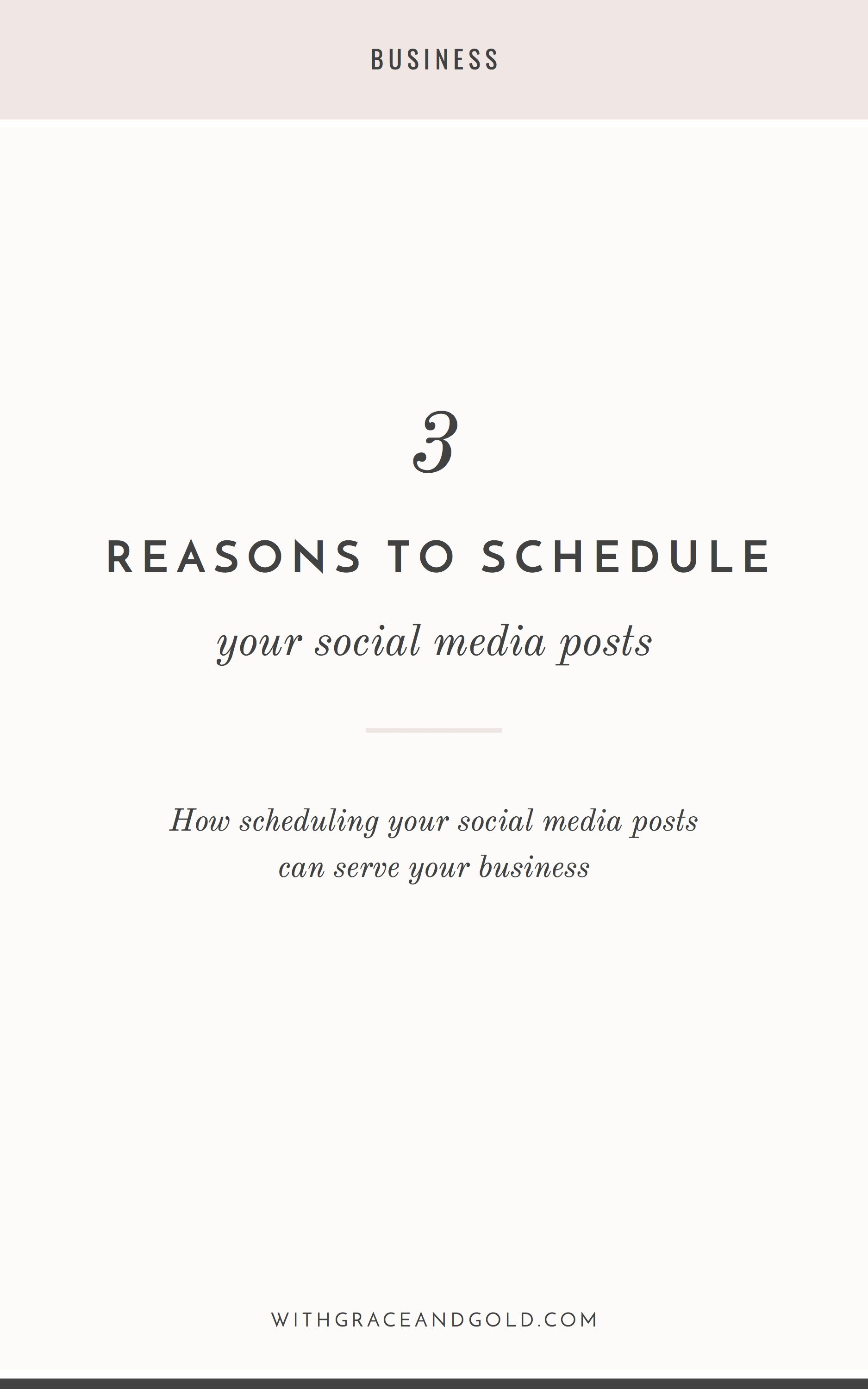 3 Reasons To Schedule Your Social Media Posts With Grace And Gold Branding Web Desig Social Media Post Social Media Schedule Social Media Posting Schedule
