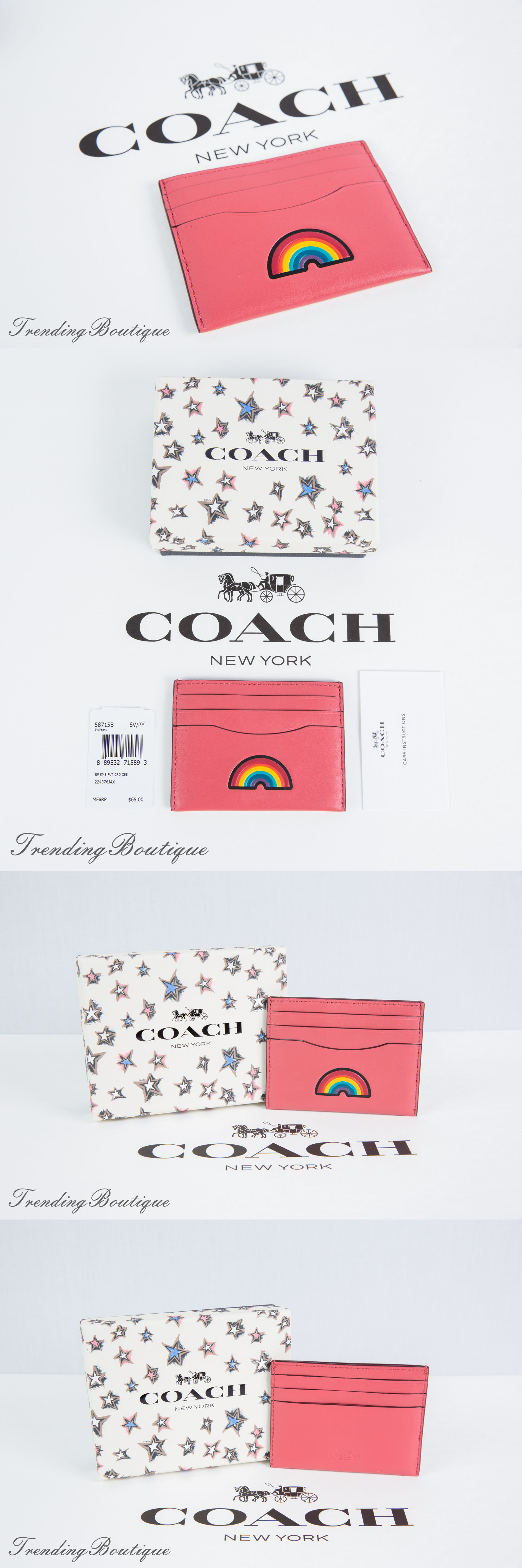 Business and credit card cases 105544 coach boxed embossed flat business and credit card cases 105544 coach boxed embossed flat card case holder leather 58715b reheart Image collections