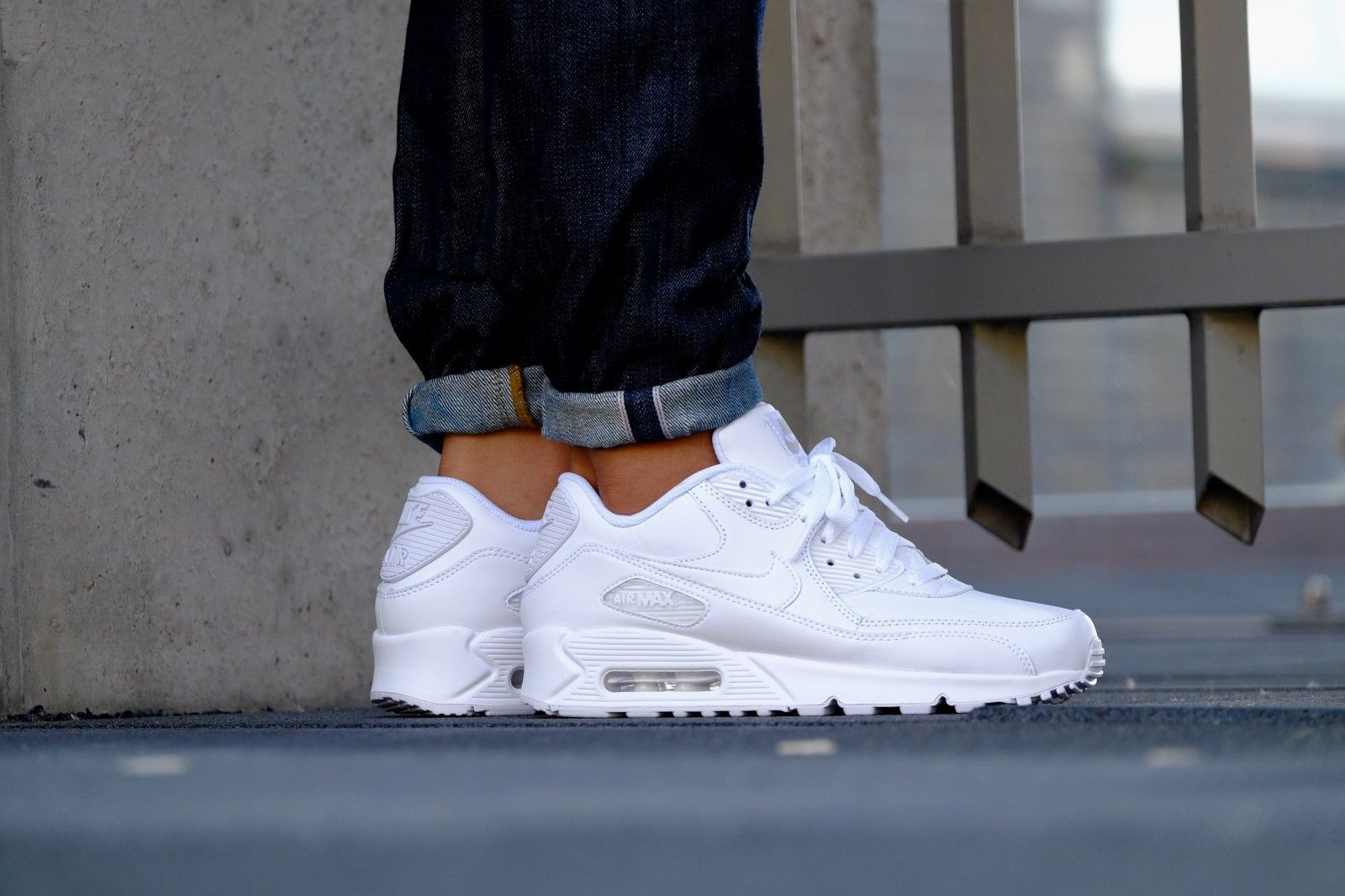 Fashion's Nike Men Leather All White Air Max 90 Nike Nike Nike