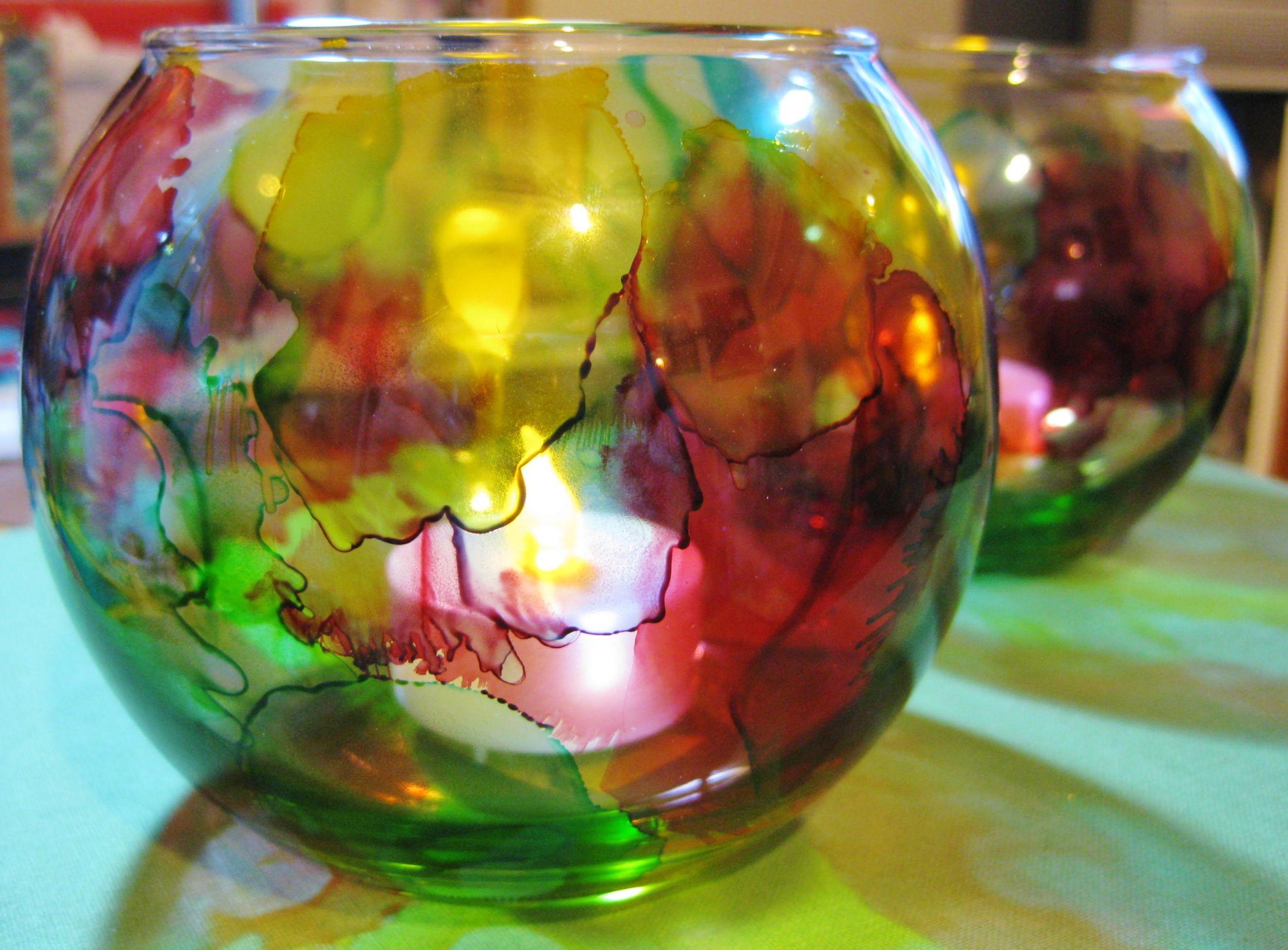 Alcohol ink votive candle holder tutorial votive candle holders alcohol ink votive candle holder tutorial baditri Images