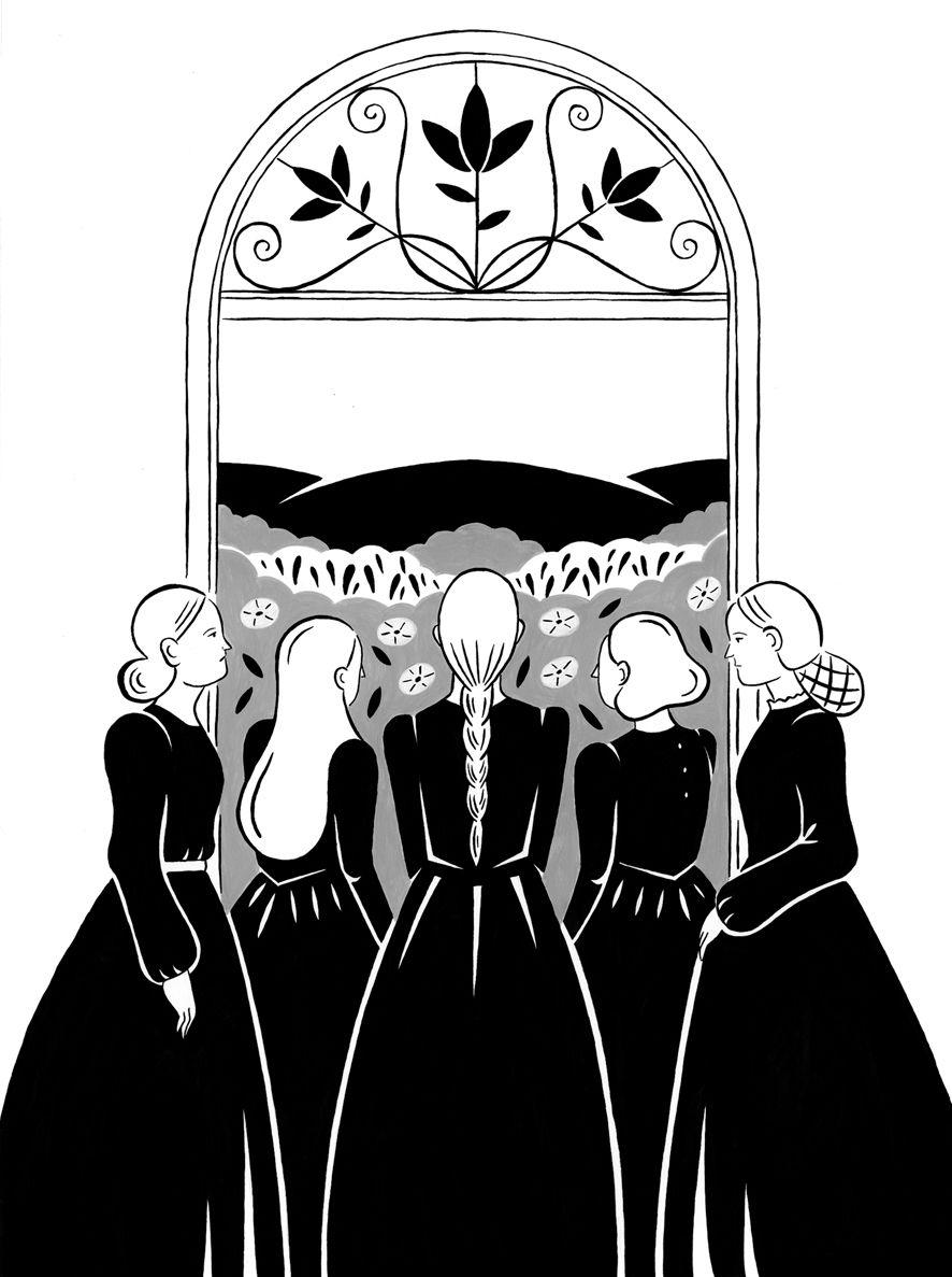 """Ilustraciones para """"La casa de Bernarda Alba""""(Federico García Lorca).  Editado"""