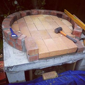 Fire bricks laid in ring of dome Pizza Oven Pinterest Brick