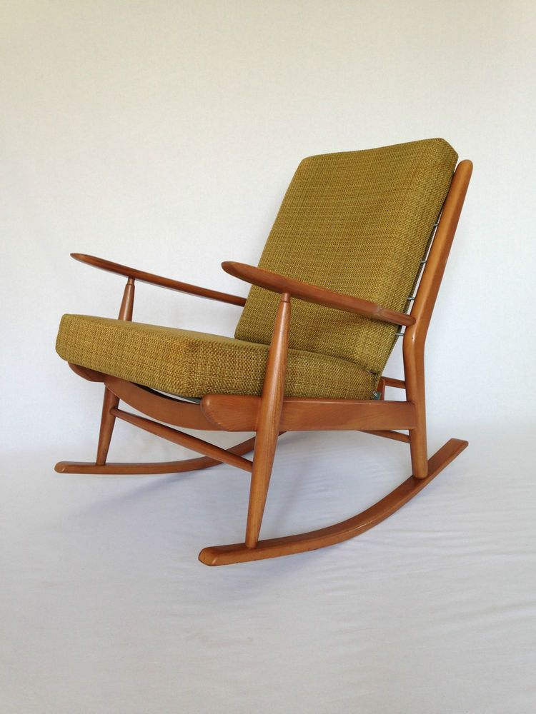 Vintage Retro 1960 S Scandart Rocking Chair Danish Style Ercol