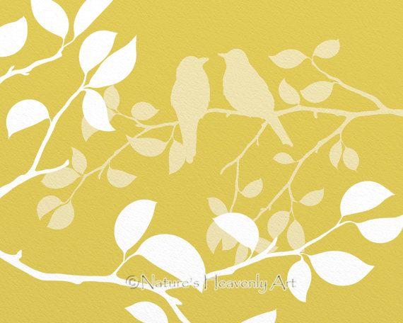 Summer Tree Wall Art Print Yellow Home Decor by NaturesHeavenlyArt ...