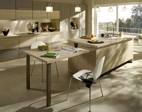 Déco Cuisine Zen Idées Couleurs Pour Une Cuisine Sympa - Meuble en frene massif pour idees de deco de cuisine