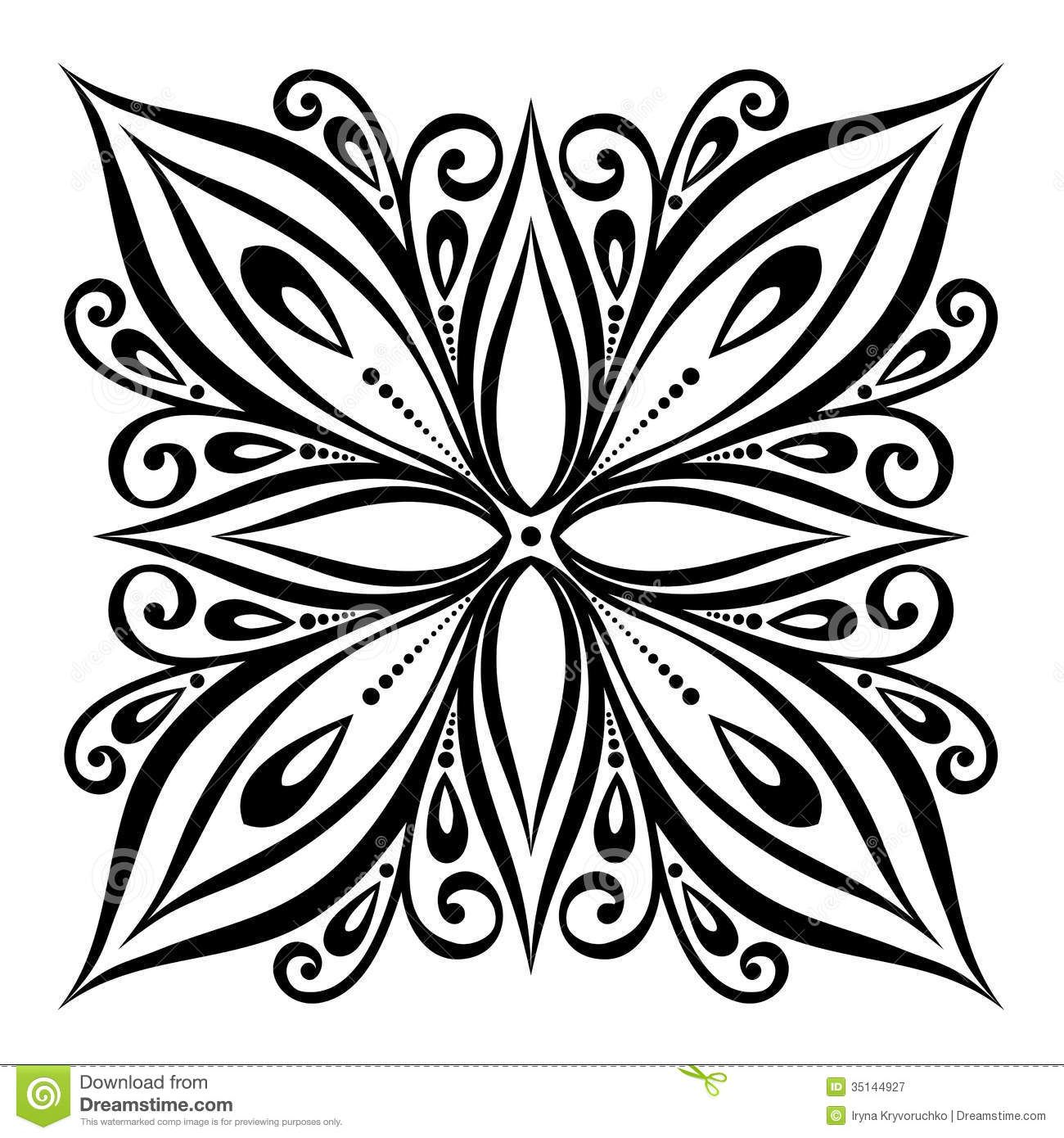 square mandala coloring pages Bing Images Simple