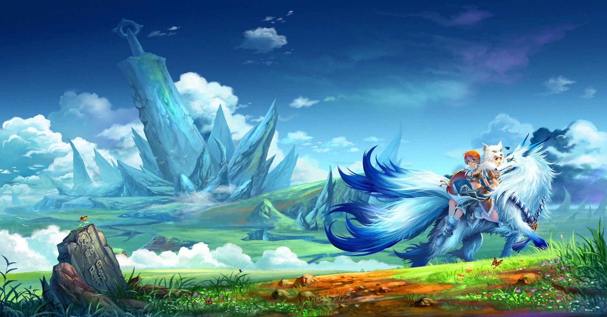 anime fantasy landscape wallpapers free as wallpaper hd | wallpapers