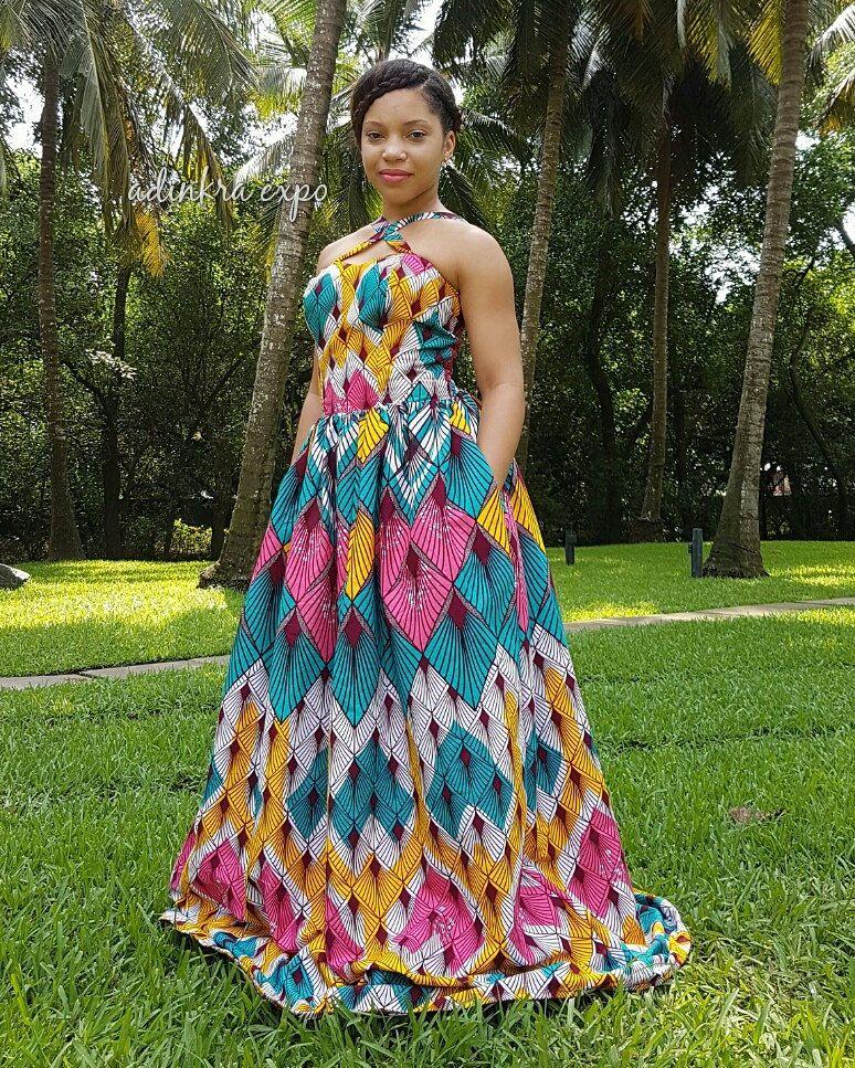 Bissa African Maxi Dress/ Ankara Dress / Ankara Gown by AdinkraExpo ...