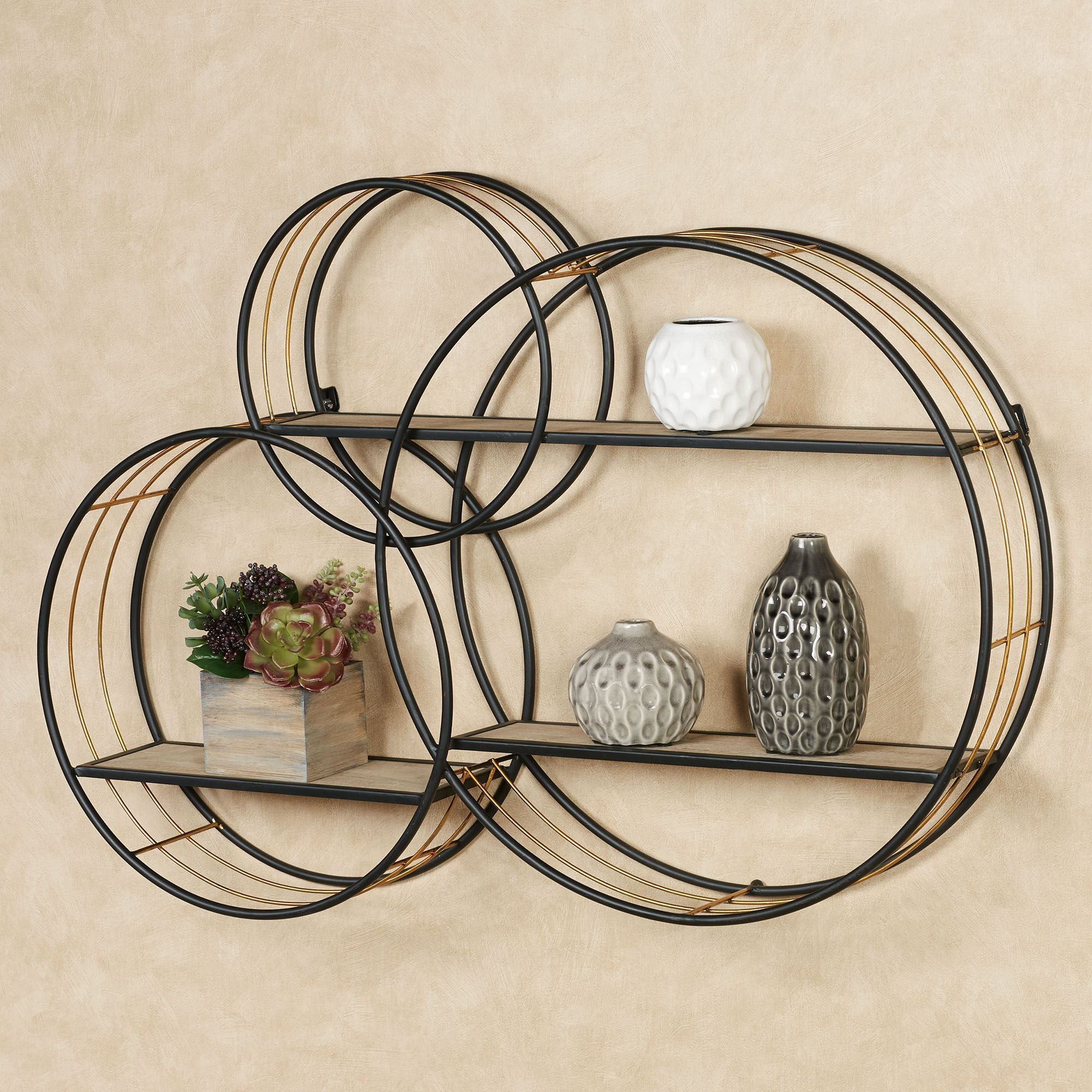 Macayle Circles Modern Wall Display Shelf Circle Wall Shelf Decor Wall Shelves