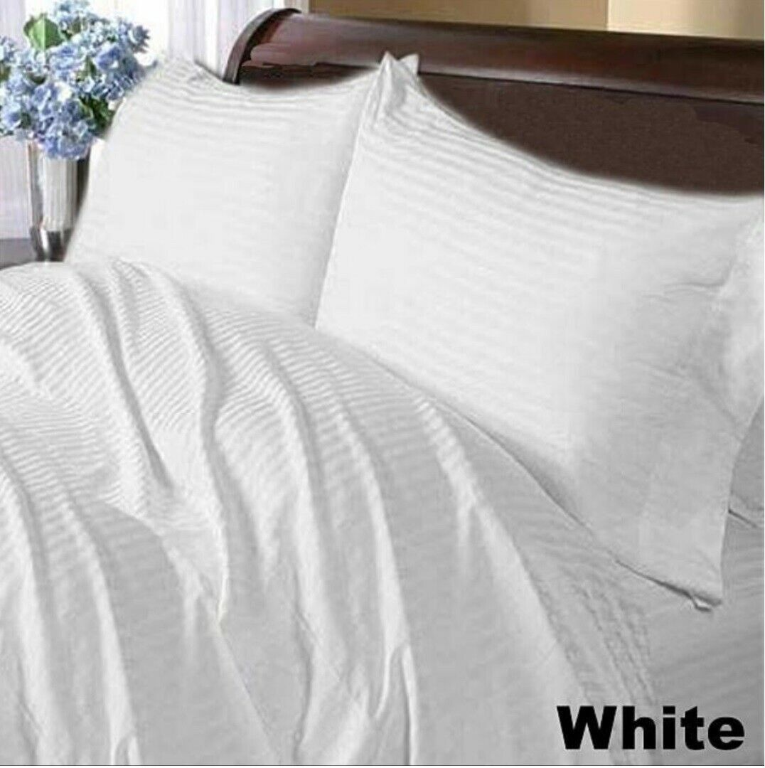1000 TC 100/% New Egyptian Cotton Beige Solid Home Bedding Items All US Sizes