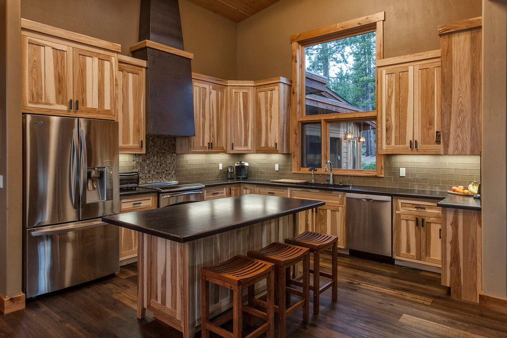Kitchens with Hickory Cabinets and Wood Floors   ... Ideas ...