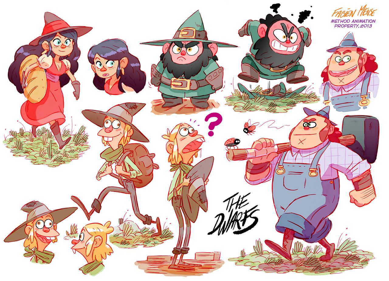 Character Design Research : Dwaaaaaarfs characters research for method animation
