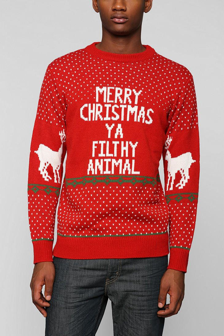 Urban Outfitters Ugly Christmas Sweater.Filthy Animal Holiday Sweater Urban Outfitters On Wanelo