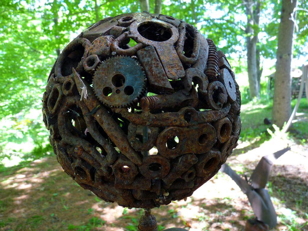 Junk sculpture 8 metal garden art metal art junk art