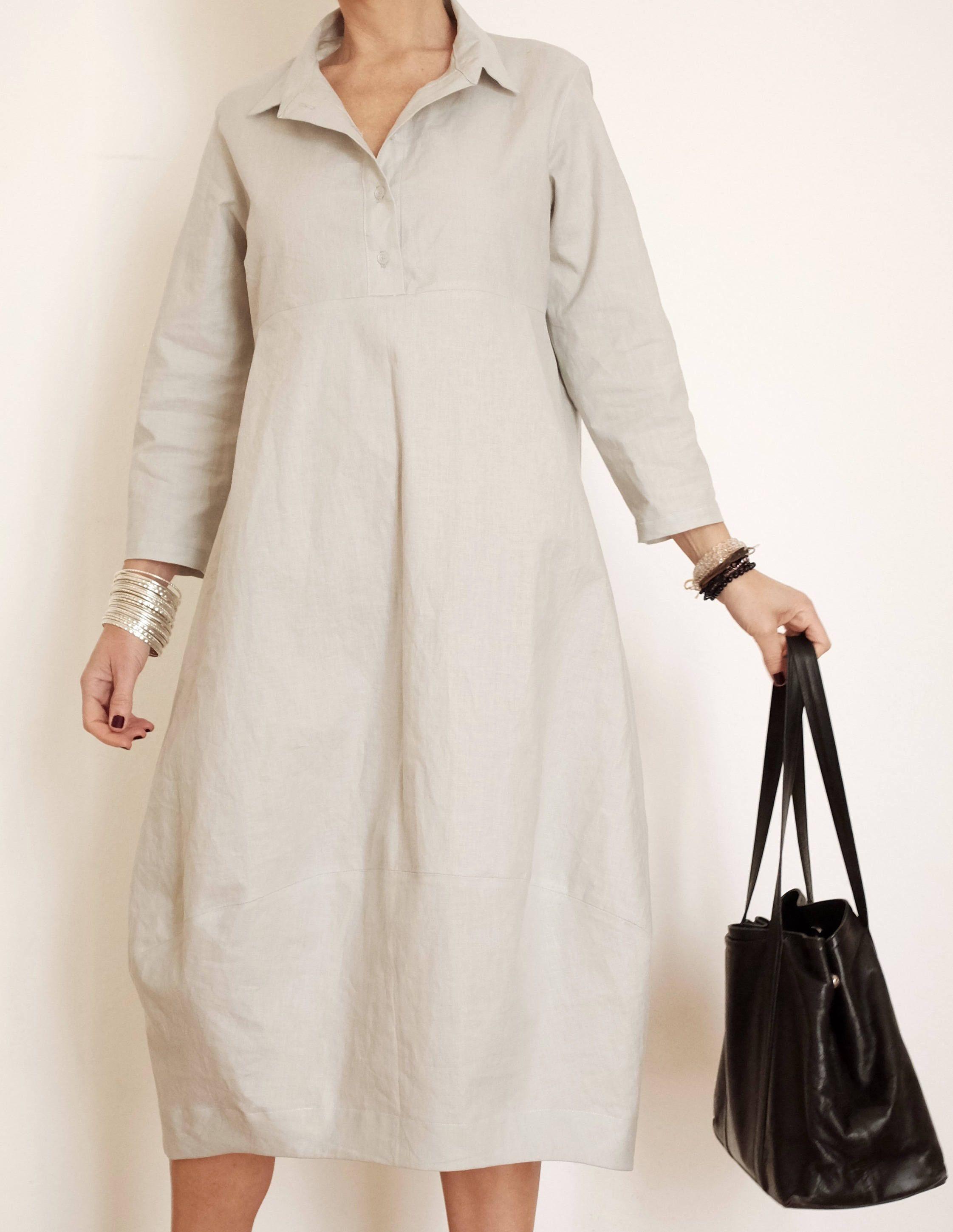 Photo of Linen Dress – Charcoal Grey Linen Dress – Linen Womens Clothing – Shirt Linen Dress – Charcoal Linen Tunic – Long Linen Shirt Dress – Linen