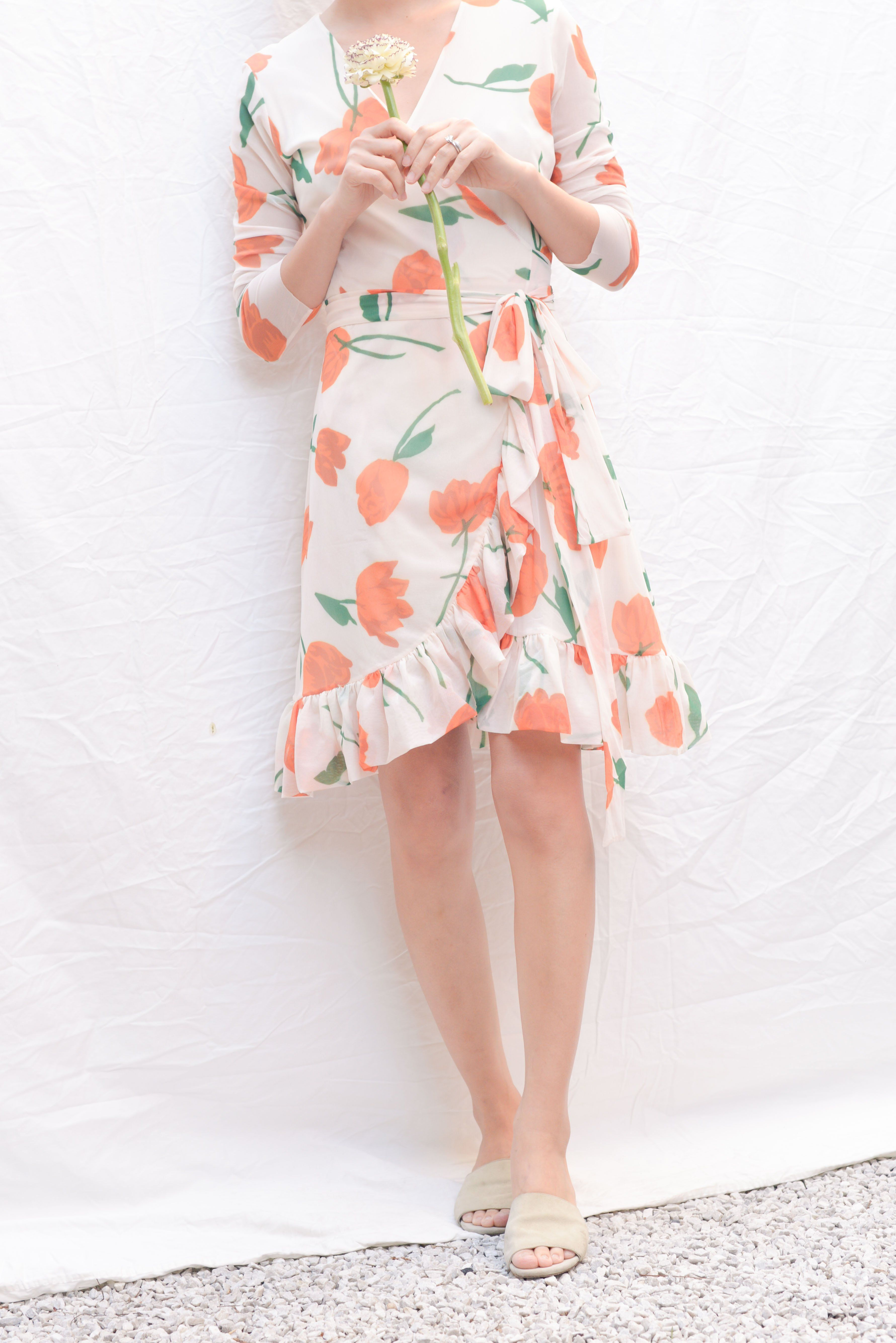 Ganni Tilden Mesh Wrap Dress Vanilla Ice Mini Wrap Dress Wrap Dress Dresses