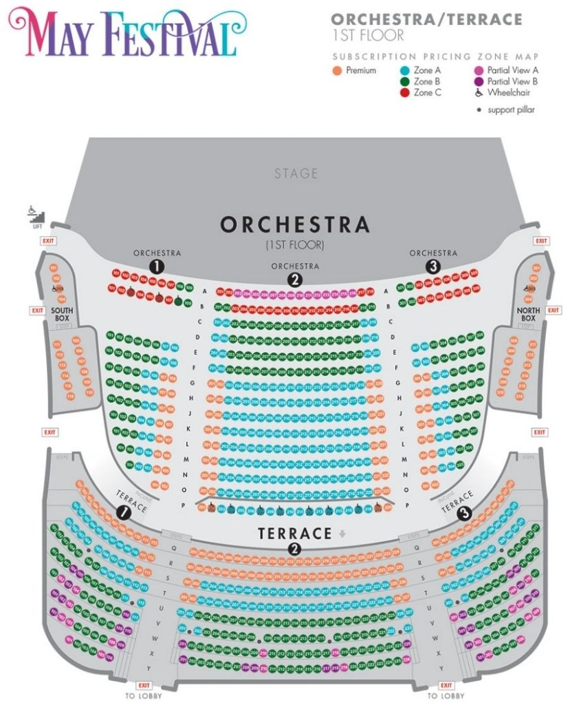 Music Hall Seating Chart Seating Charts Chart Orchestra