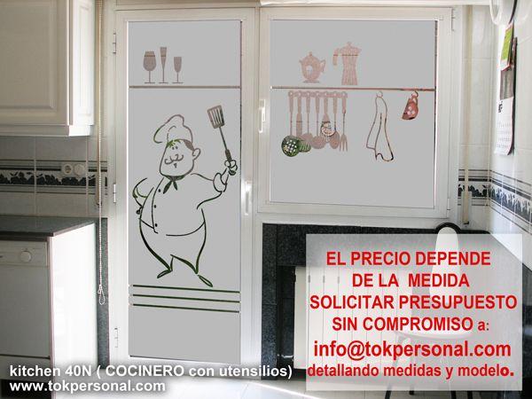 Modelo kithcen 40n vinilo para cocina ideal para - Que cortinas poner en la cocina ...