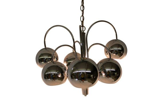 Popular Mid Century Modern vintage Chrome balls ceiling light by GreStuff Top Design - Latest mid century ceiling light Inspirational