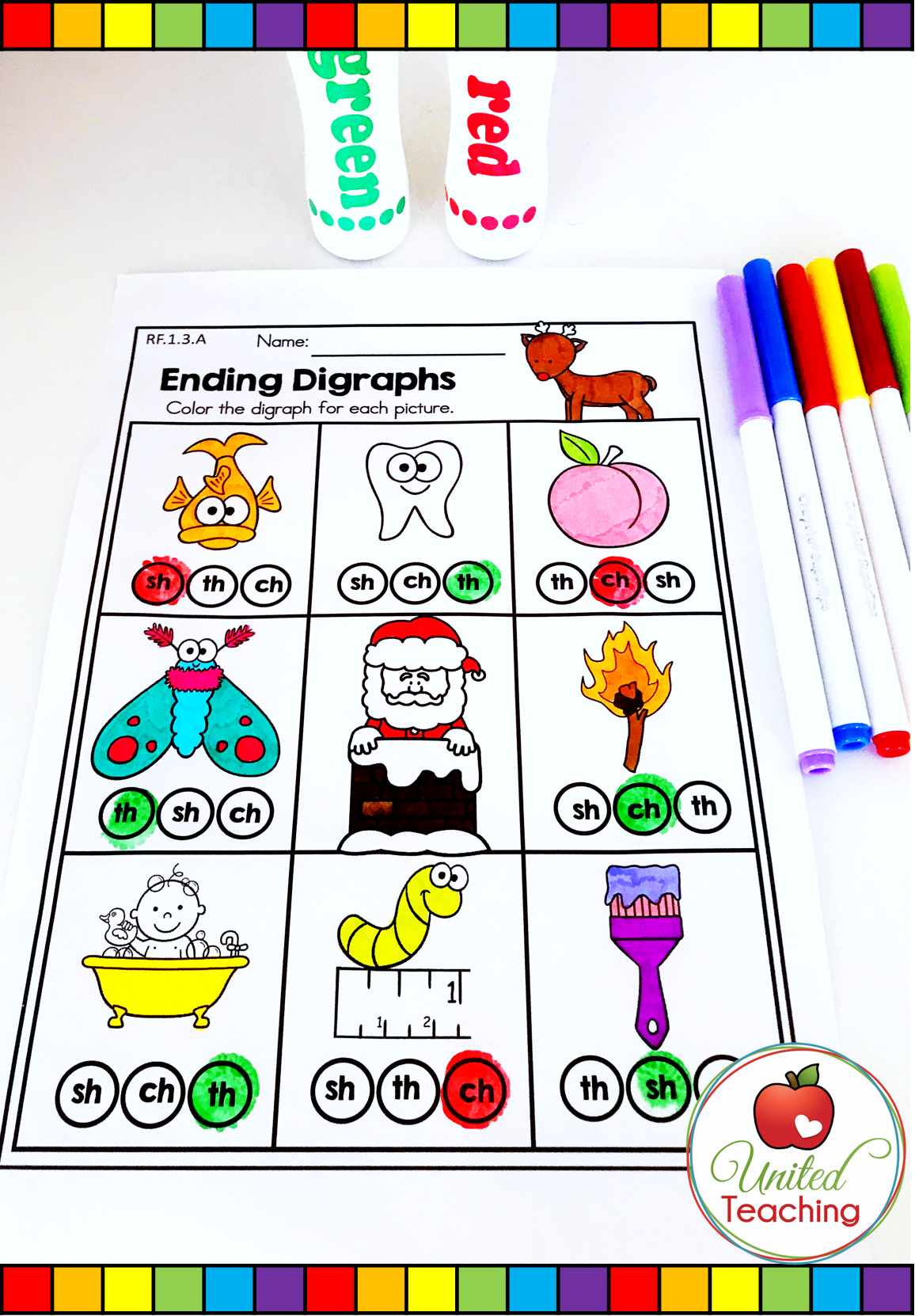 Identify The Ending Digraph For Each Picture And Color Or