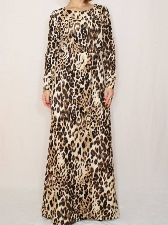 Leopard print maxi dress with sleeves cheetah print dress maxi dress african 48aa10098