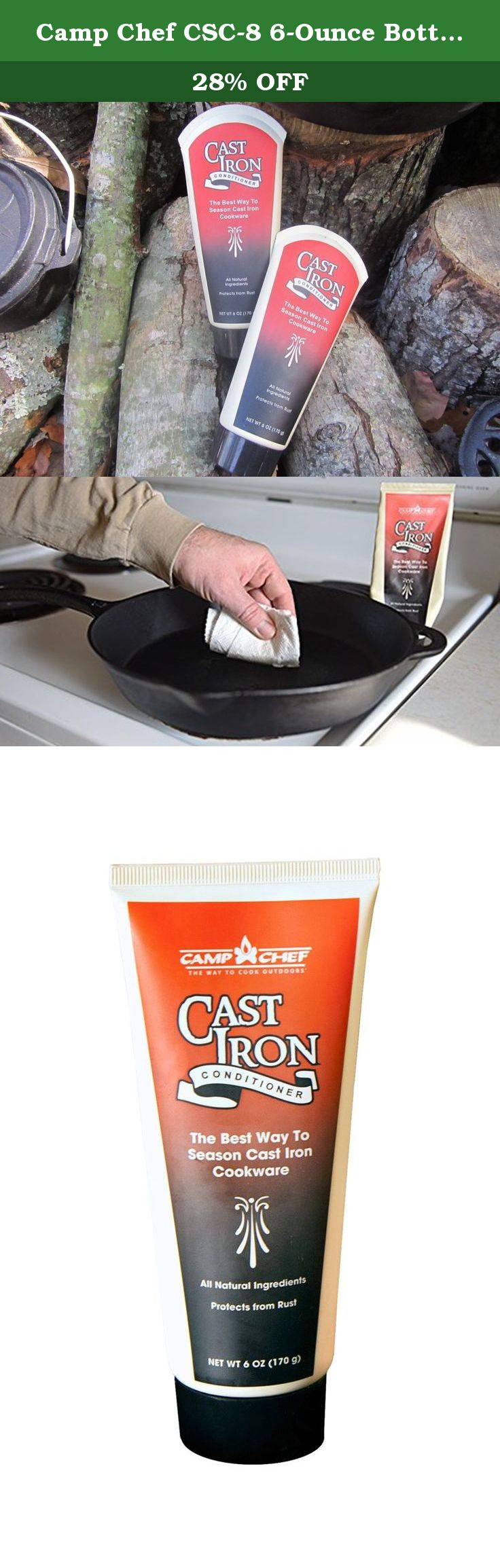 Camp Chef CSC8 6Ounce Bottle of CastIron Conditioner