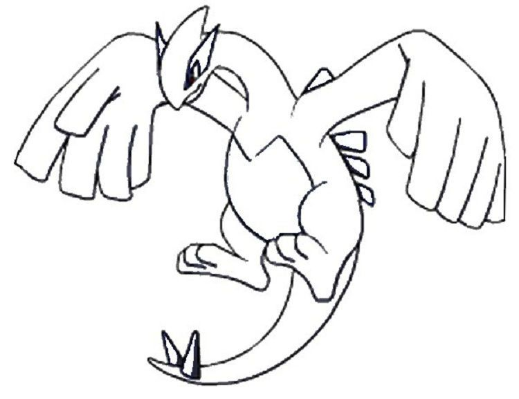 Pokemon Coloring Pages Lugia Lugia Pokemon Pokemon Desenho