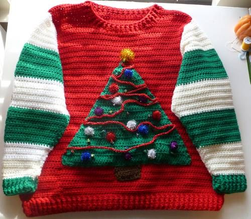 Crochet Your Christmas Sweater! 7 free patterns – Grandmother's Pattern Book #grinchscarfcrochetpatternfree