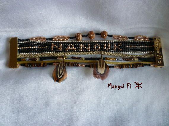 Bracelet Manchette Style Amérindien personnalisé
