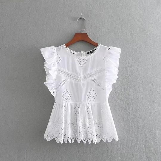 2018 women sweet lace patchwork embroidery hollow out casual blouses lace agaricrricdress