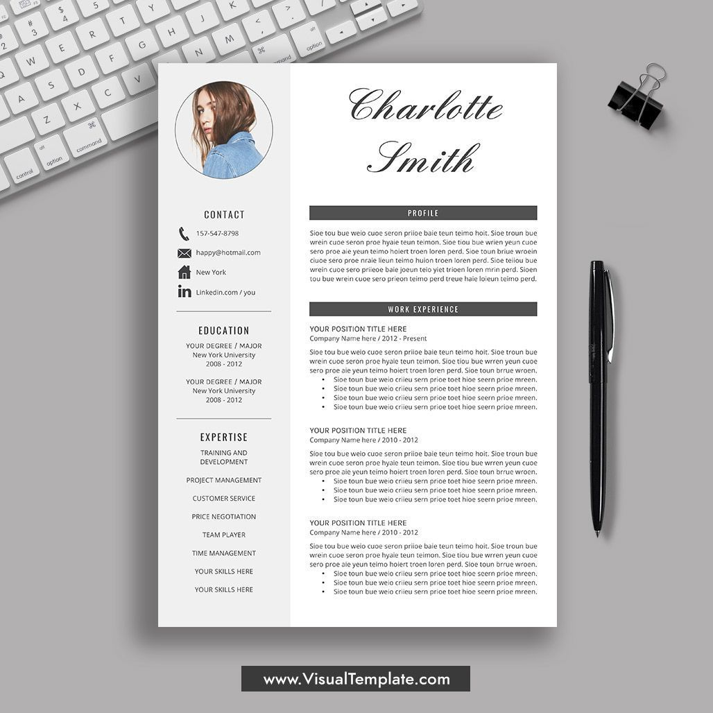 Creative Resume Template Professional Resume Design Modern And Simple Resume Word Resume Cv Templa Downloadable Resume Template Resume Template Office Word
