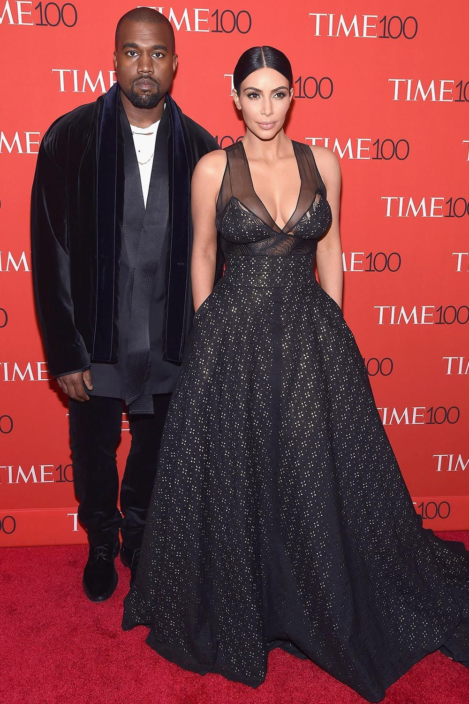 Kanye West and Kim Kardashian at the Time 100 Gala