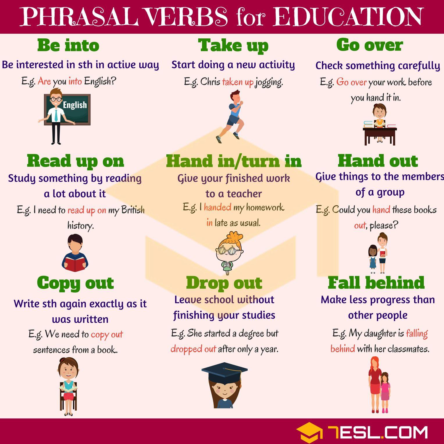 Phrasal Verbs For Education