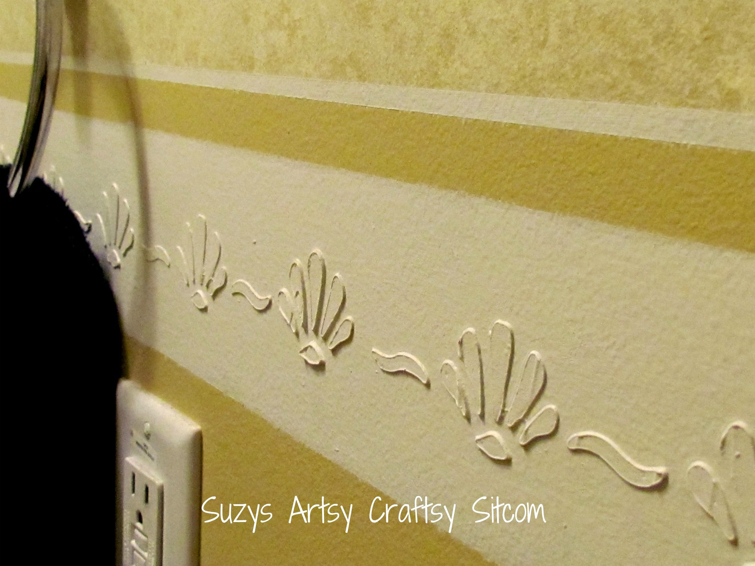 Feature Friday- Faux Chair Rail Tutorial | Painters tape, Stenciling ...