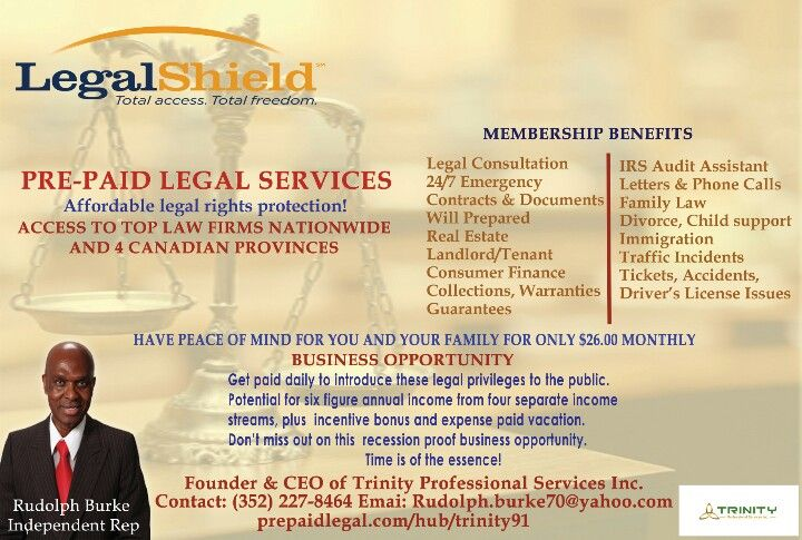 Check out Legalshield, Legal