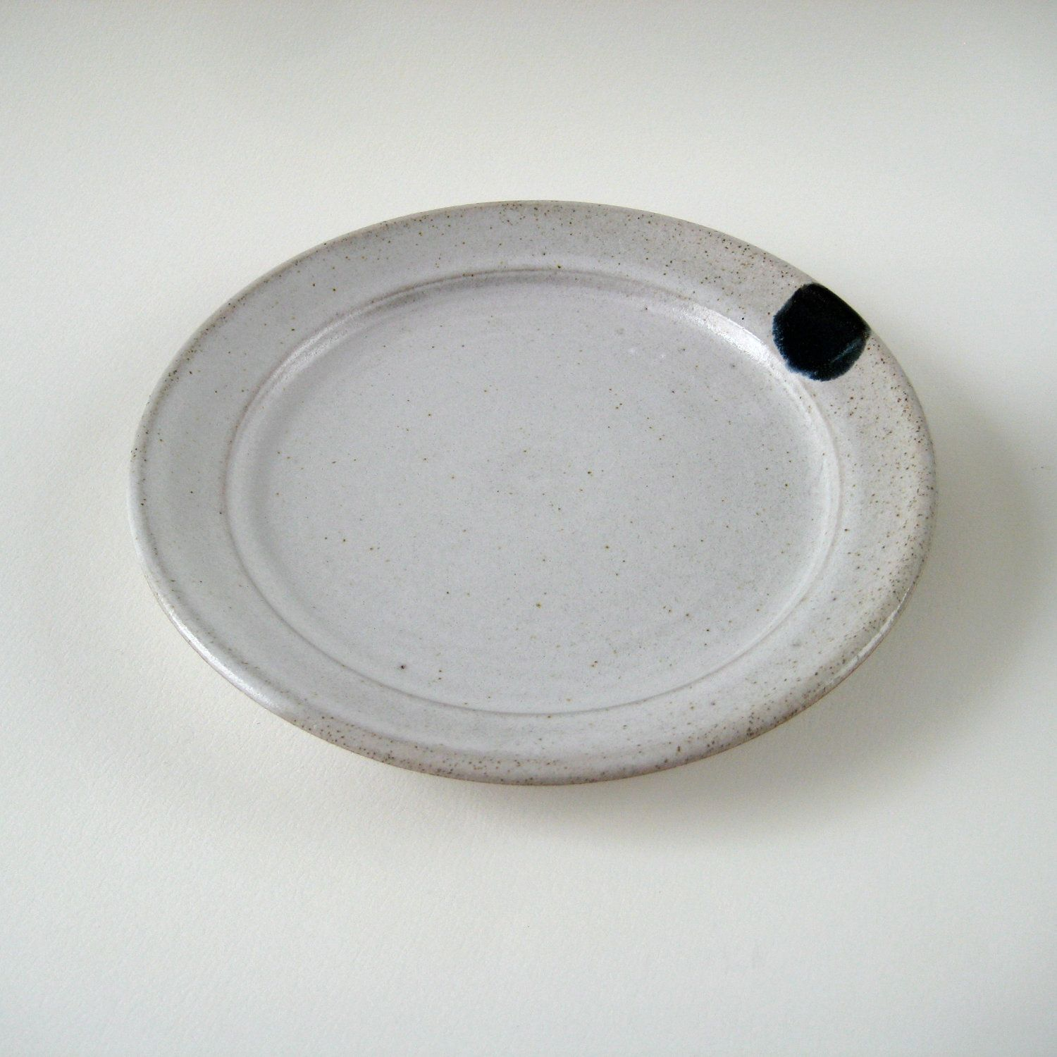 "Side Plate - Small White Stoneware Plate ""Winter Theme"". £20,00, via Etsy."
