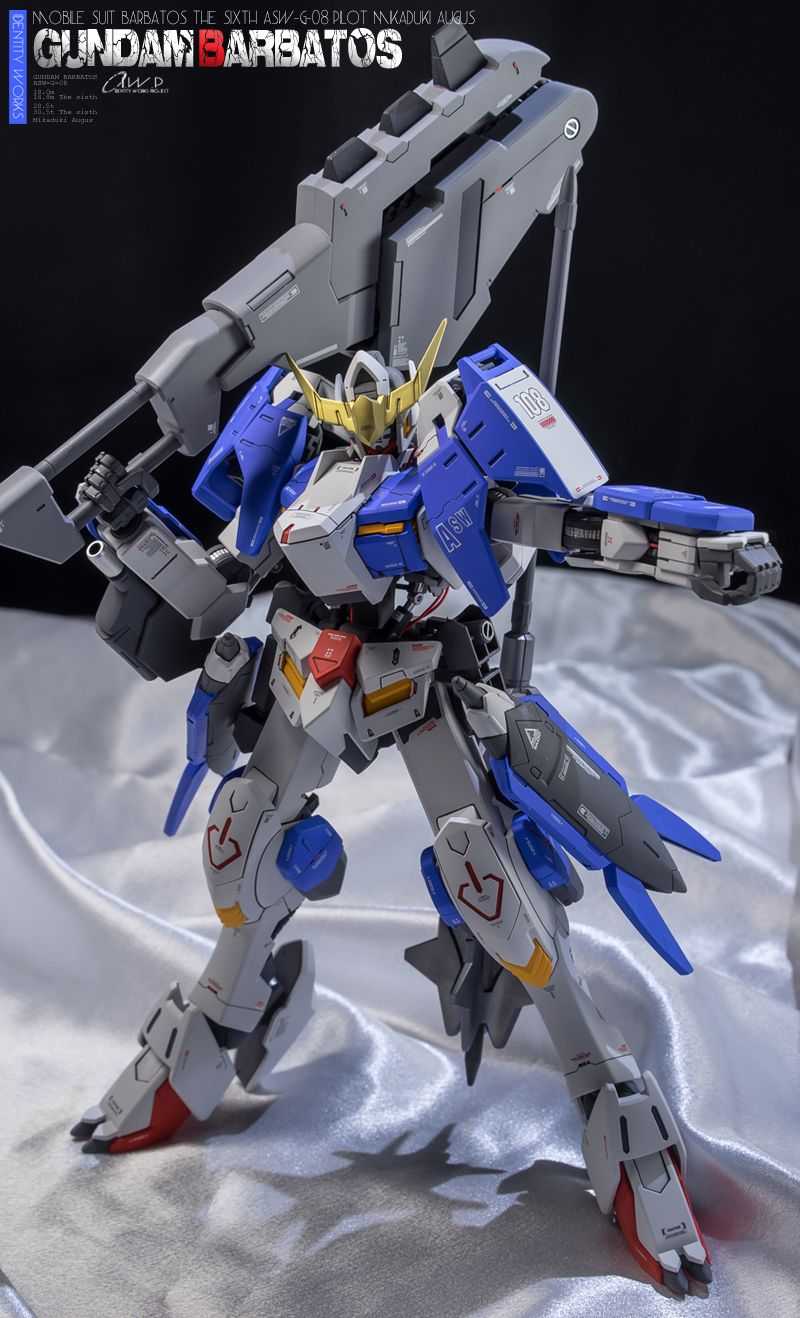 GUNDAM GUY: 1/100 Gundam Barbatos Form 6 - Customized Build ...