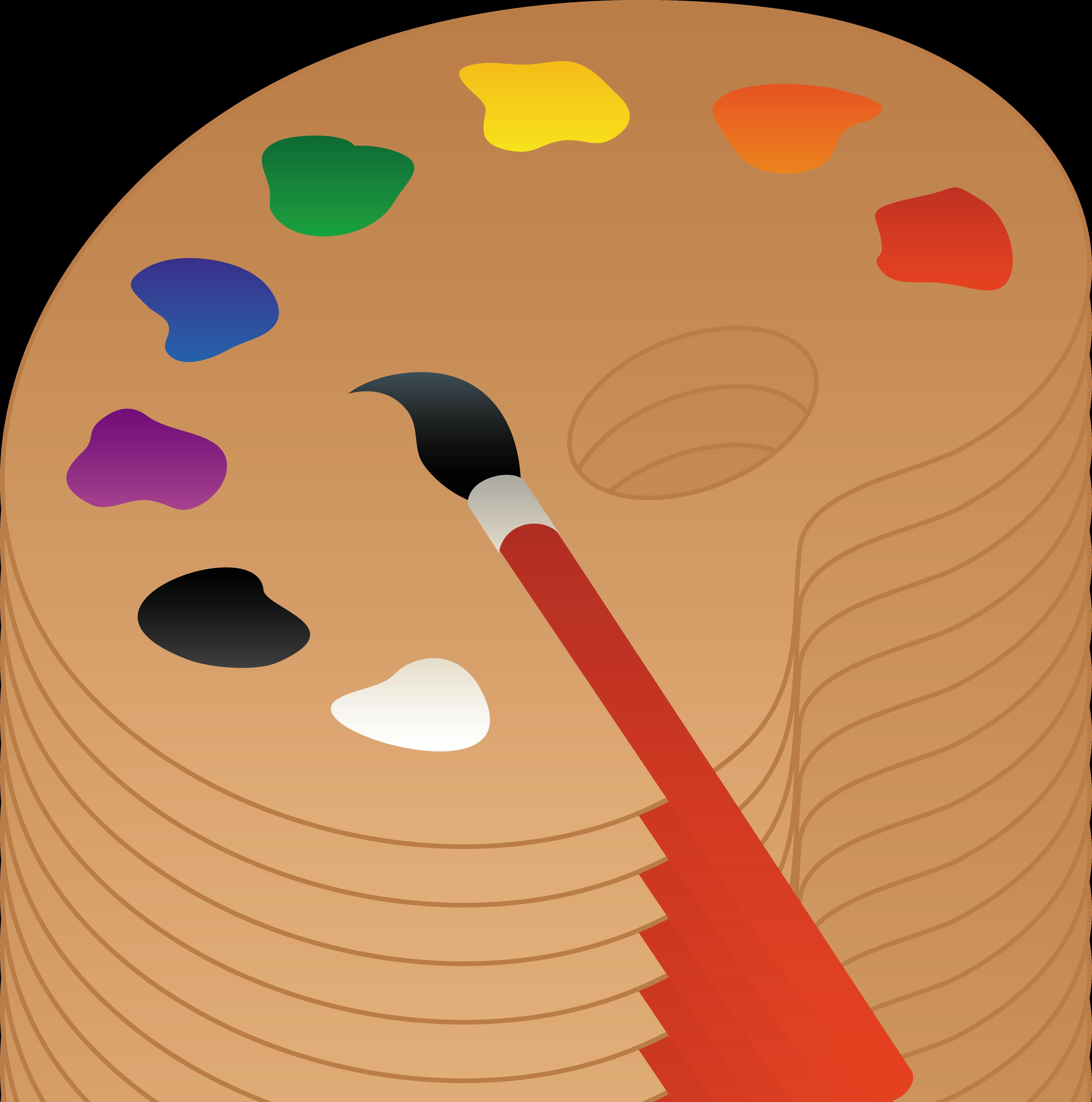 Art Palette With Brush Artist palette, Free clip art